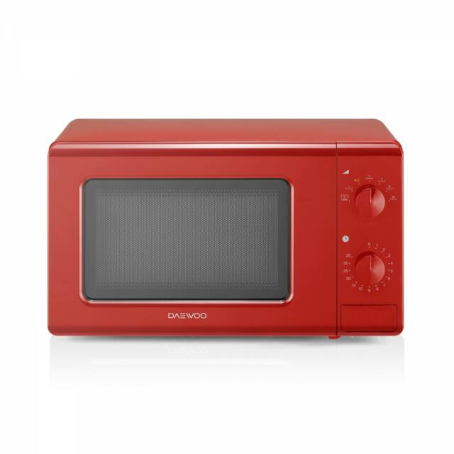 Daewoo analóg mikrohullámú sütő, 20 L, 700 W, Piros, KOR-6S20R