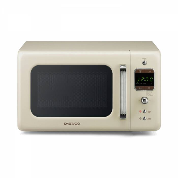 Daewoo Retro Mikrohullámú sütő, 20 L, Krémszínű, 800 W, KOR-6LBRC