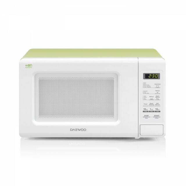 Daewoo Mikrohullámú sütő, 20 L, 800 W, Fehér-Zöld, KOR-6S2BWG