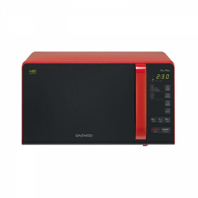 Daewoo Mikrohullámú Sütő, 20 L, 800 W, Piros, KOR-6S3DBR