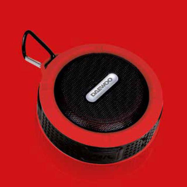Daewoo fürdőszobai bluetooth hangszóró 3W teljesítménnyel, piros, DIBT2122RD