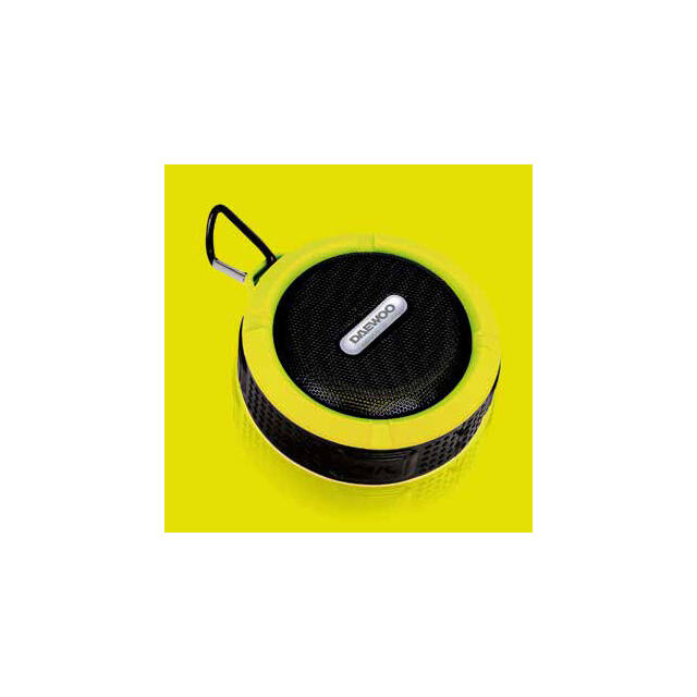 Daewoo fürdőszobai bluetooth hangszóró 3W teljesítménnyel, sárga