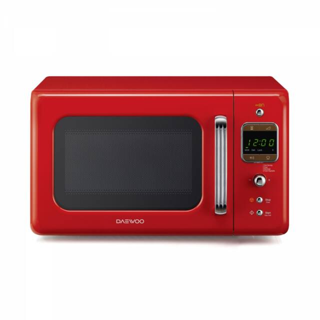 Daewoo Retro Mikrohullámú sütő, 20 L, Piros, 800 W, KOR-6LBRR