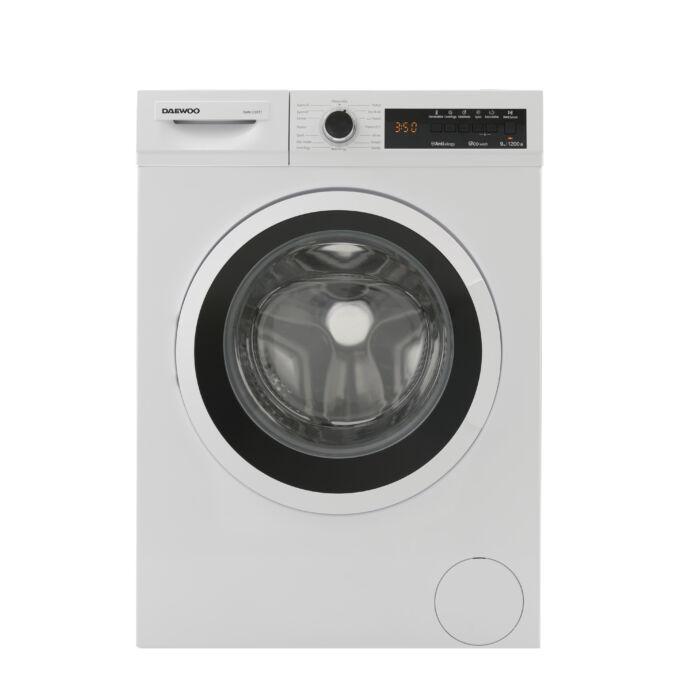 Daewoo mosógép 9 kg kapacitással, digitális kijelzővel, fehér, DWM-1209T2